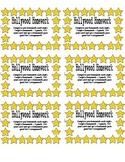 Hollywood Themed Homework Reward Punch Cards