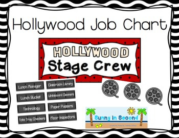 Hollywood Themed Job Chart