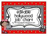 Hollywood Themed Job chart (Editable)