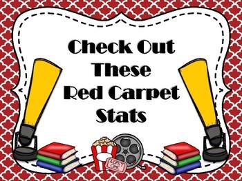 Hollywood Themed Library Stats  Mini Bulletin Board Set