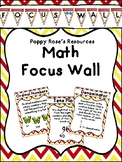 Hollywood Themed Math Focus Wall