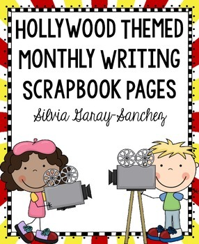 Hollywood Themed Monthly Writing Scrapbook Paper