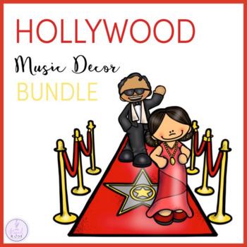 Hollywood Themed Music Classroom Decor Bundle