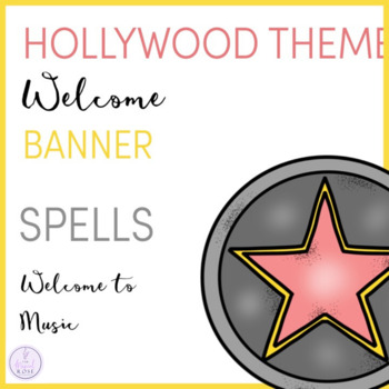 Hollywood Themed Music Room Welcome Banner