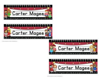 Hollywood Themed Editable Name plates / Desk Plates / Name Tags