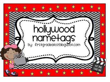 Hollywood Themed Nametags Editable