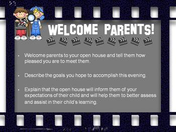 Hollywood Themed {OPEN HOUSE} PowerPoint