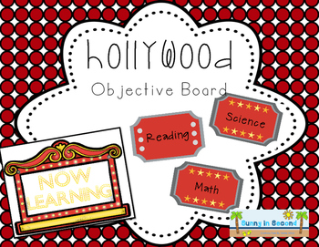 Hollywood Themed Objective Board