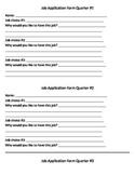 Hollywood Themed Quarterly Classroom Job Application
