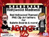 Hollywood Themed Red Star Clip Art for Bulletin Board Letters