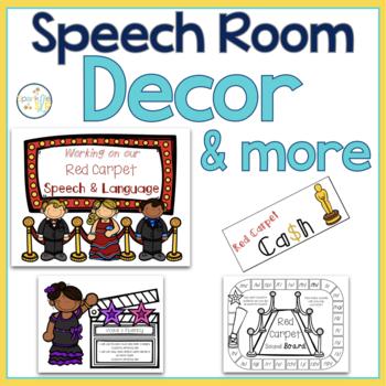 Hollywood Themed Speech Room Decor