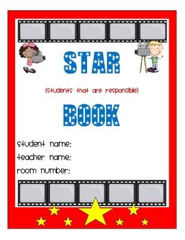 Hollywood Themed Star Book
