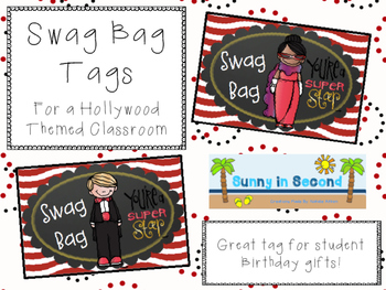 Hollywood Themed Swag Bag Tags