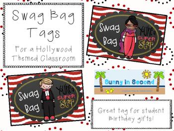 Hollywood Themed Swag Bag Tags