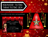 Hollywood Themed Testing Sign