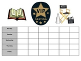 Hollywood Themed VIP Seating Schedule and Badges