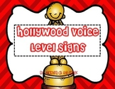 Hollywood Themed Voice Level Posters