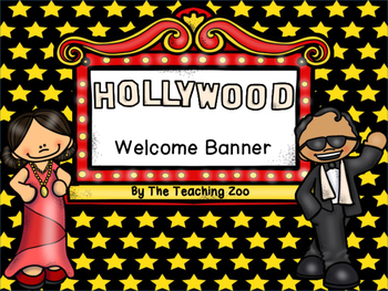 Hollywood Themed Welcome Banner