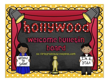 Hollywood Themed Welcome Bulletin Board