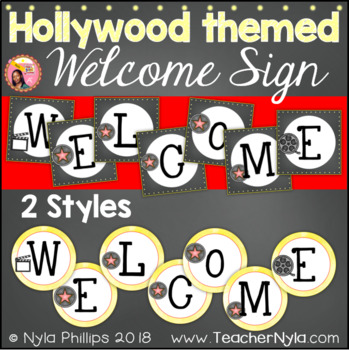 Hollywood Themed Welcome Sign Letters