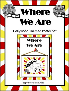Hollywood Themed Where We Are Poster Set