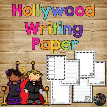 Hollywood Themed Writing Paper, End of Year Party, Celebra