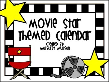 Hollywood Themed or Movie Star Themed Calendar