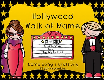 Hollywood Walk of Name: Starring Your Name and the Alphabet