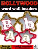 Hollywood Word Wall Alphabet Headers