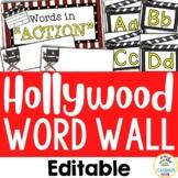 Hollywood Theme:  Word Wall (Editable)