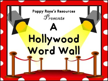 Hollywood Interactive Word Wall (Full Set)