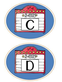 Hollywood Word Wall Pack: Alphabet Labels and Word Cards