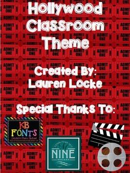 Hollywood and Movie Classroom Theme {printable classroom decor}