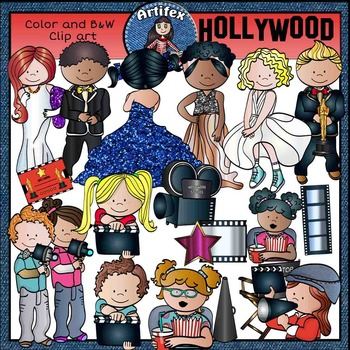 Hollywood clip art-Color and B&W- 46 items!