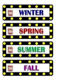 Hollywood - movie theme seasons cards