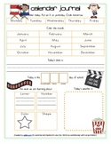 Hollywood or Movie Themed Calendar/Circle Time Journal Sheet