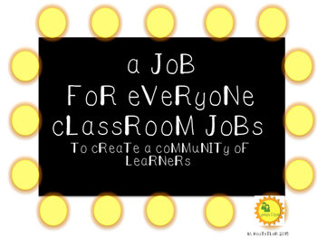 Movie or Hollywood Themed Classroom Jobs