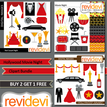 Hollywood party clip art