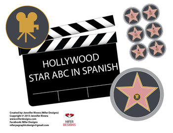 Hollywood star spanish or english ABC