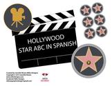 Hollywood star spanish or english ABC