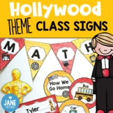 Hollywood theme classroom signs and labels
