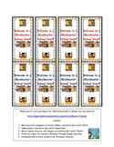 Hollywood theme mini-chocolate wrappers, subject labels, &