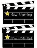 Hollywood themed bulletin board clapboards- Large