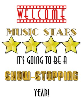 Hollywood themed music classroom signs #2