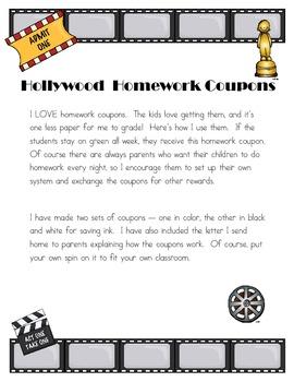 Hollywood Homework Coupon