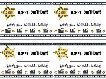 Hollywood/Movie Birthday Cards
