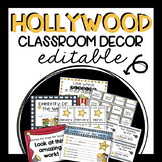 EDITABLE Hollywood/Movie Classroom Pack- UPDATED