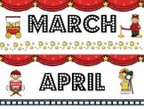 Hollywood/Movie Themed Calendar Headings
