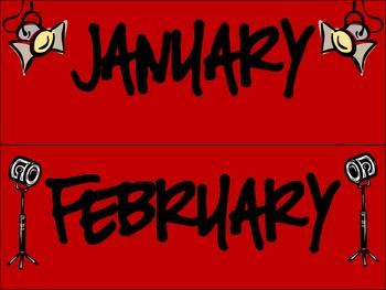 Hollywood/Movie Themed Calendar PACK