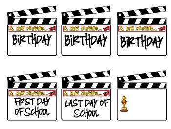 Hollywood/Movie Themed Calendar Pieces